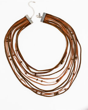 Idyllwind Women's Layers and Leather Necklace, Brown, hi-res