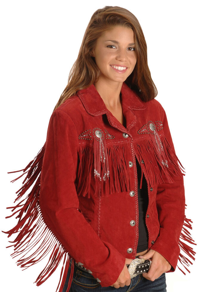 89f30f21627b Scully Fringed Suede Leather Jacket