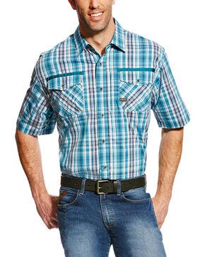 Ariat Men's Rebar Short Sleeve Work Shirt - Big & Tall, Multi, hi-res