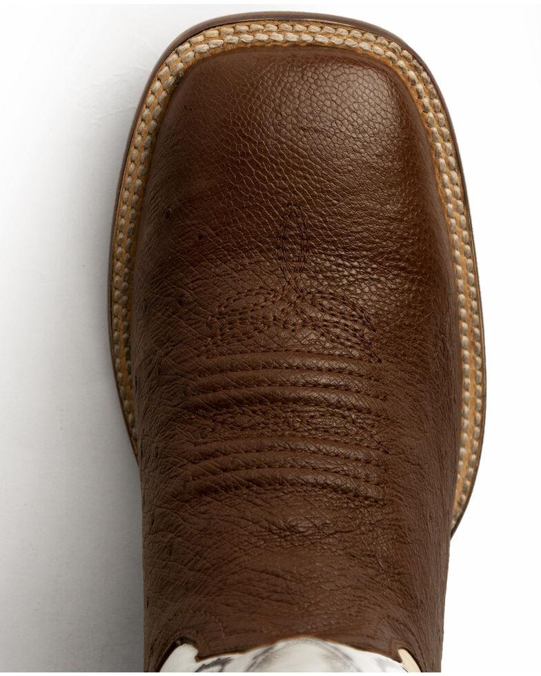 Ferrini Men's Smooth Quill Ostrich Exotic Boots - Square Toe , Kango, hi-res