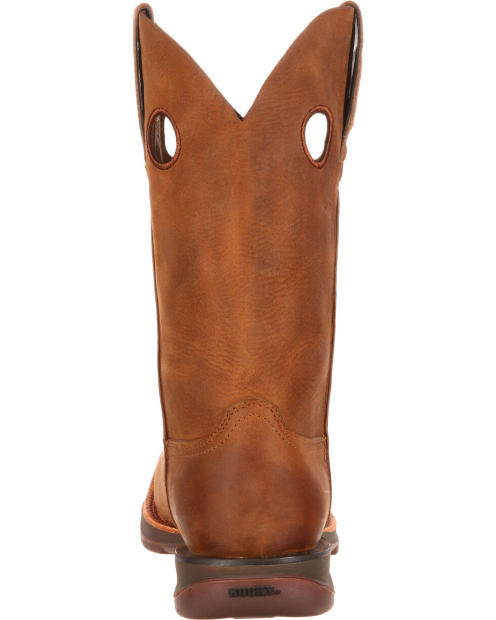 Rocky Men's Brown Roper Western Boots - Square Toe , , hi-res