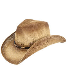 Peter Grimm Headwear O Annie PGD Brand Straw Cowboy Hat , Natural, hi-res
