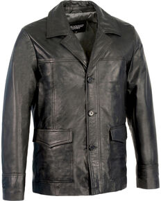 Milwaukee Leather Men's Leather Car Coat Jacket - Big 5X , Black, hi-res
