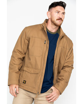 Hawx® Men's Canvas Work Jacket , Brown, hi-res