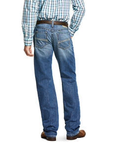 Ariat Men's M2 Blaze Low Relaxed Stackable Bootcut Jeans , Blue, hi-res