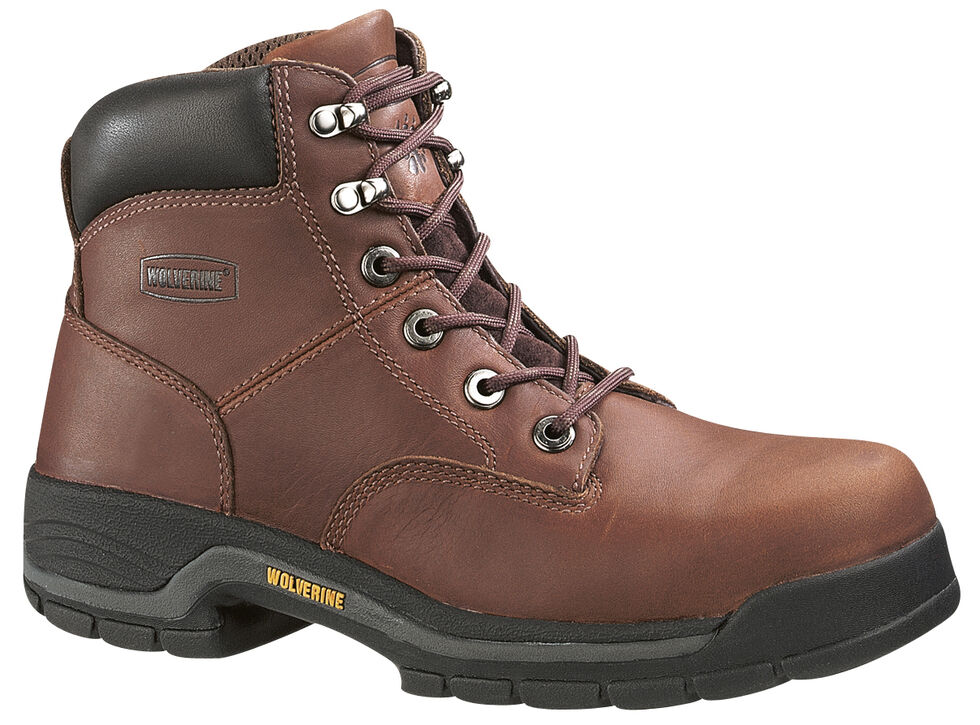 "Wolverine Men's Harrison Lace-Up 6"" Work Boots, Brown, hi-res"