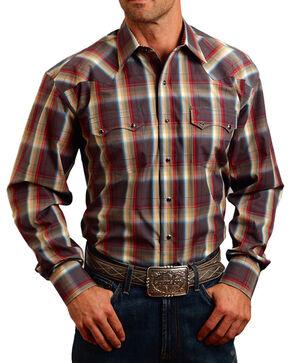Stetson Men's Sandstone Ombre Long Sleeve Shirt, Brown, hi-res