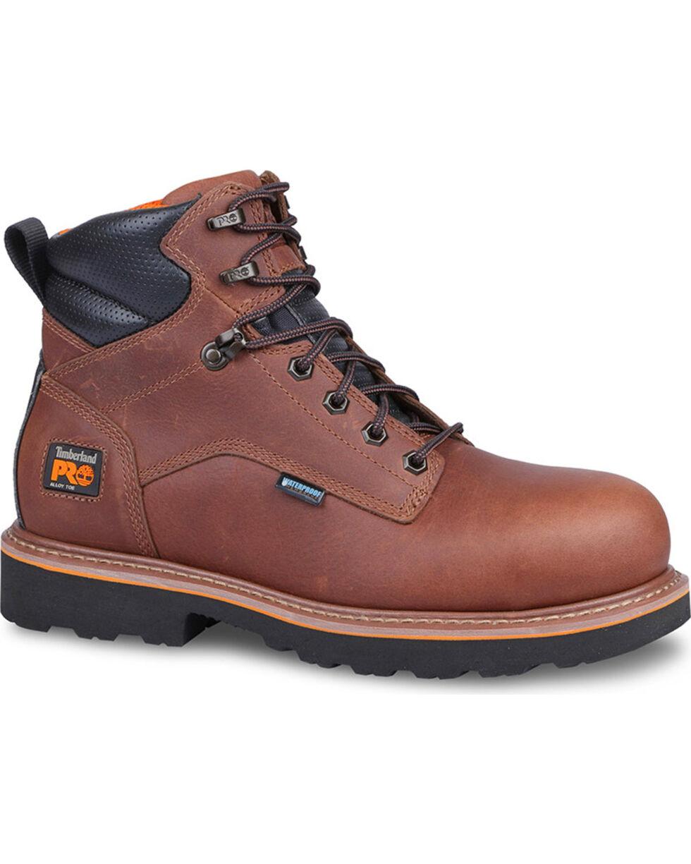 "Timberland Pro Men's Ascender 6"" Boots - Alloy Safety Toe , Brown, hi-res"