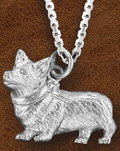 Kelly Herd Women's Sterling Silver Small Corgi Necklace, Silver, hi-res