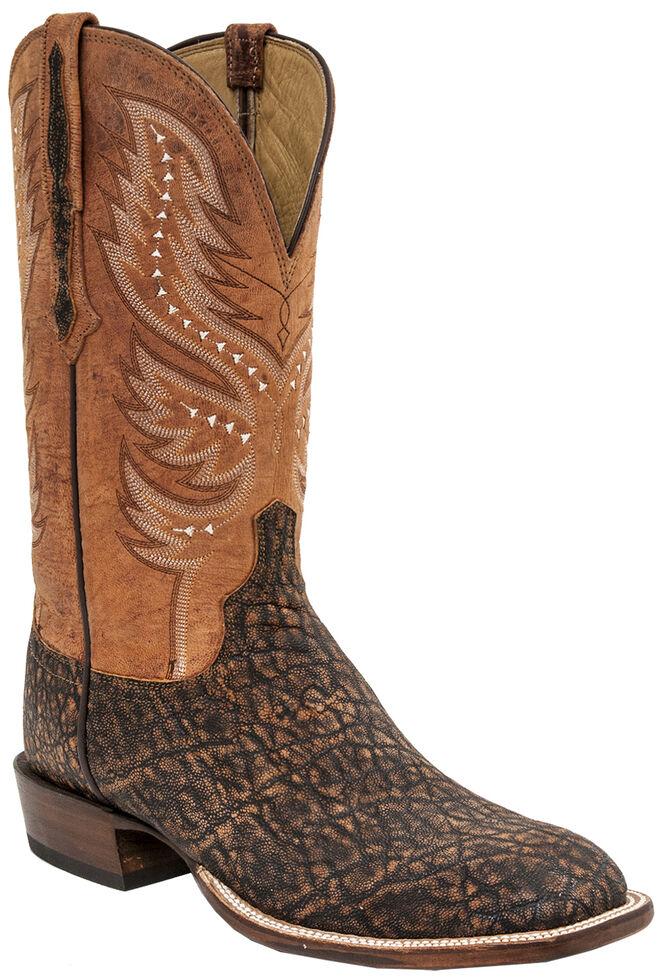 Lucchese Men's Handmade Cade Elephant Horseman Boots - Square Toe , Cognac, hi-res