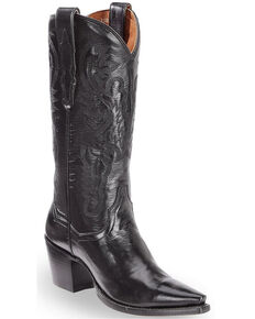 Dan Post Polished Western Boots - Snip Toe, Black, hi-res