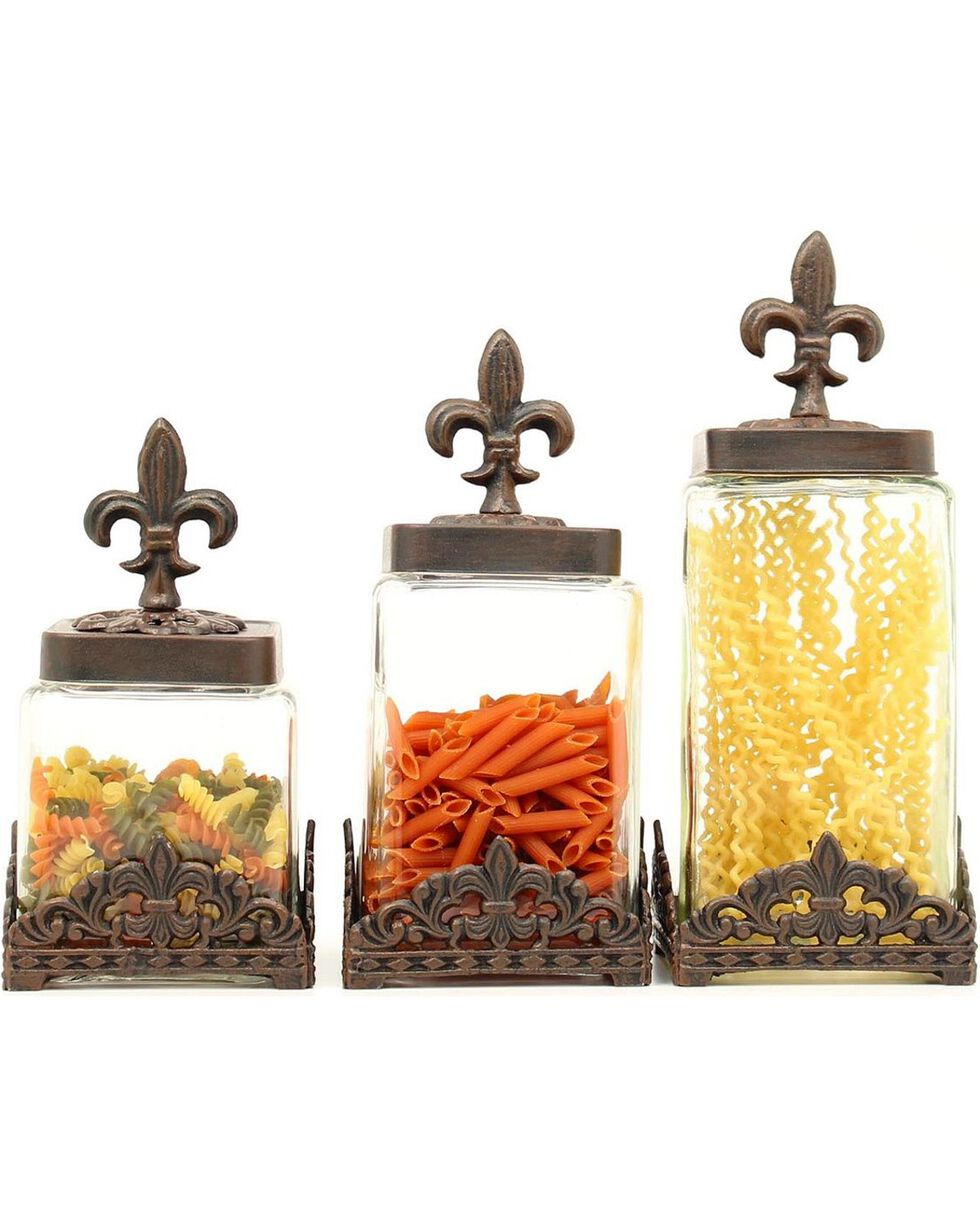 Western Moments Monarch Canisters - Set of 3, Brown, hi-res