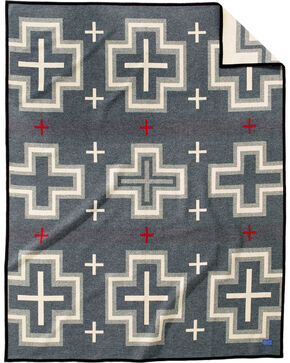 Pendleton Charcoal San Miguel Robe Blanket , Charcoal, hi-res