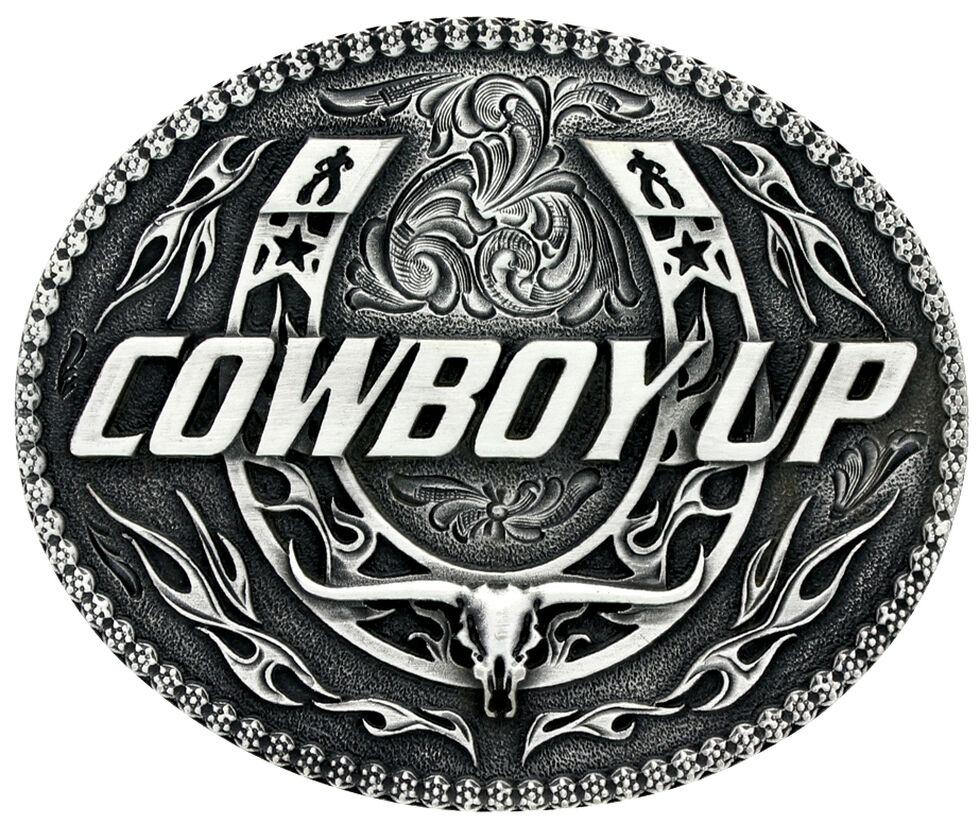 20acfd0e4 Montana Silversmiths Little Classic Impressions Cowboy Up Belt Buckle