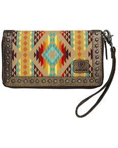 Ariat Women's Clutch Cruiser Matcher Wallet, Orange, hi-res
