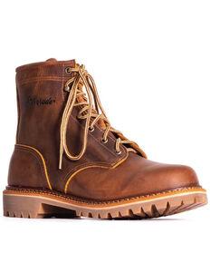 """Silverado Men's 6"""" Lace-Up Work Boots - Soft Toe, Tan, hi-res"""