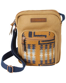Pendleton Women's Harding Tan Crossbody Satchel, Tan, hi-res