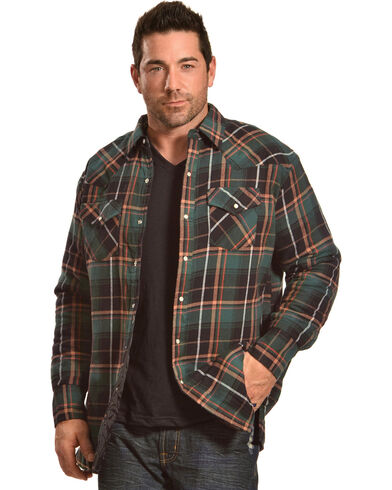 Quilted flannel shirt jacket mens designer jackets for Mens xl flannel shirts