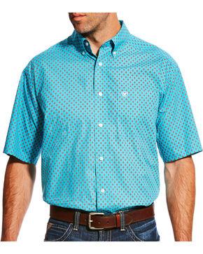 Ariat Men's Blue Nico Print Short Sleeve Shirt , Blue, hi-res