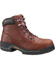 """Wolverine Women's Brown Harrison 6"""" Work Boots - Round Toe , Brown, hi-res"""