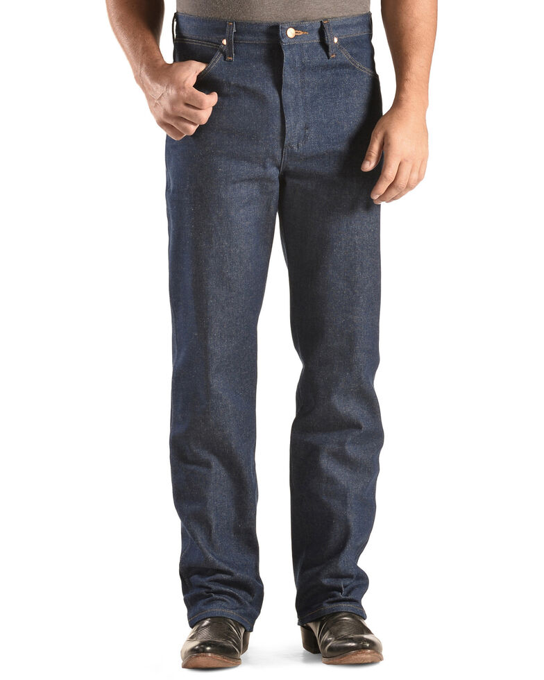"Wrangler 936 Cowboy Cut Rigid Slim Fit Jeans - 38"" & 40"" Tall Inseams, Indigo, hi-res"