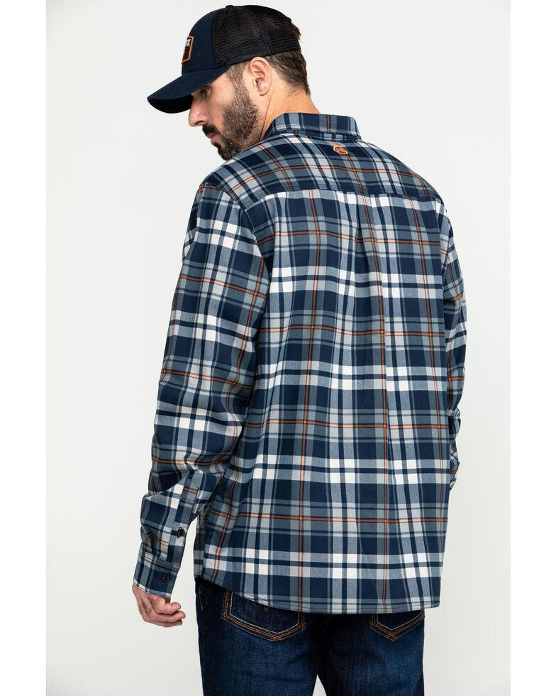Hawx Men's Blue FR Plaid Long Sleeve Woven Work Shirt , Blue, hi-res