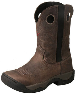 Twisted X Women's Red Buckle All Around Western Work Boots - Round Toe, Grey, hi-res