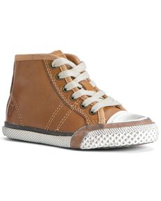Frye Boys' Greene Mid-Lace Shoes, Brown, hi-res