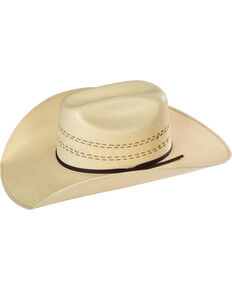Resistol Men's Childress Promo Straw Cowboy Hat, Natural, hi-res