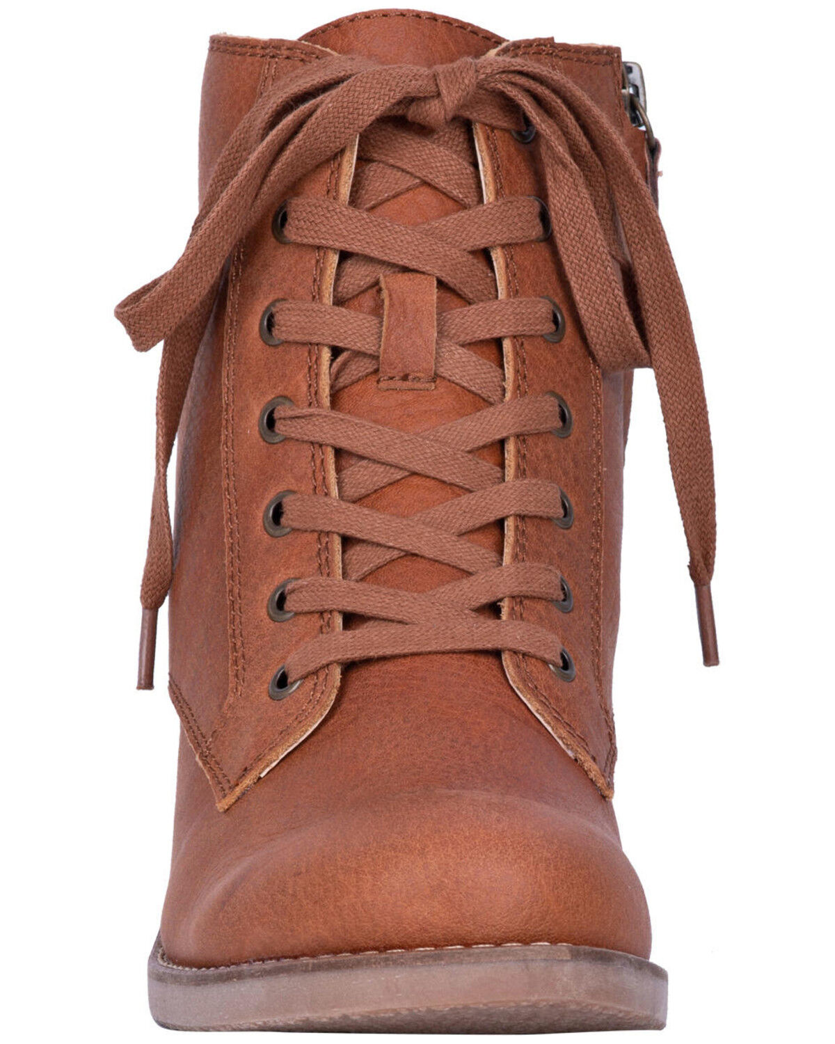 Prairie Girl Lace-Up Boots - Round Toe