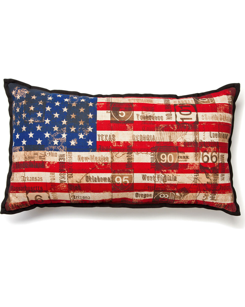 Big Sky Carvers Stars and Stripes Pillow , Red/white/blue, hi-res