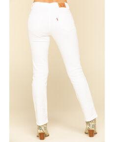 Levi's Women's Classic White Straight Jeans, White, hi-res