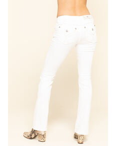 Miss Me Women's White X-Stitch Flap Pocket Chloe Bootcut Jeans, Blue, hi-res