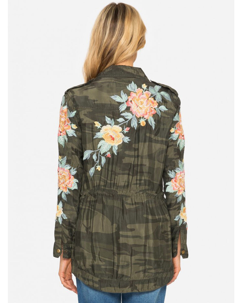 Johnny Was Women's Brenna Drawstring Military Jacket, Camouflage, hi-res