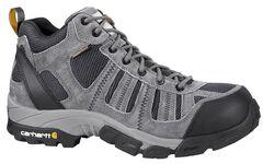 Carhartt Lightweight Waterproof Hiking Boots - Round Toe, Grey, hi-res