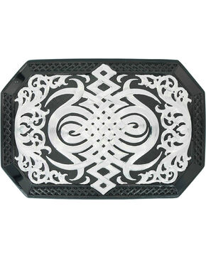 Montana Silversmiths Western Celtic Knot Buckle , Silver, hi-res