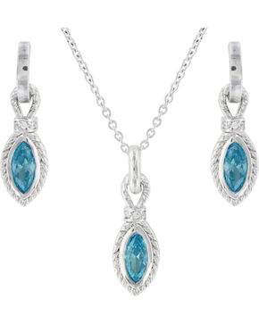 Montana Silversmiths Lassoed Starlight Jewelry Set, Silver, hi-res