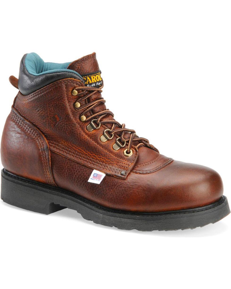 """Carolina Men's Domestic 6"""" Work Boots, Lt Brown, hi-res"""