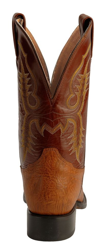 Tony Lama Aztec Shoulder Cowboy Boots - Round Toe, Brit Tan, hi-res