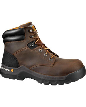 "Carhartt Women's 6"" Brown Rugged Flex Work Boots - Comp Toe, Brown, hi-res"