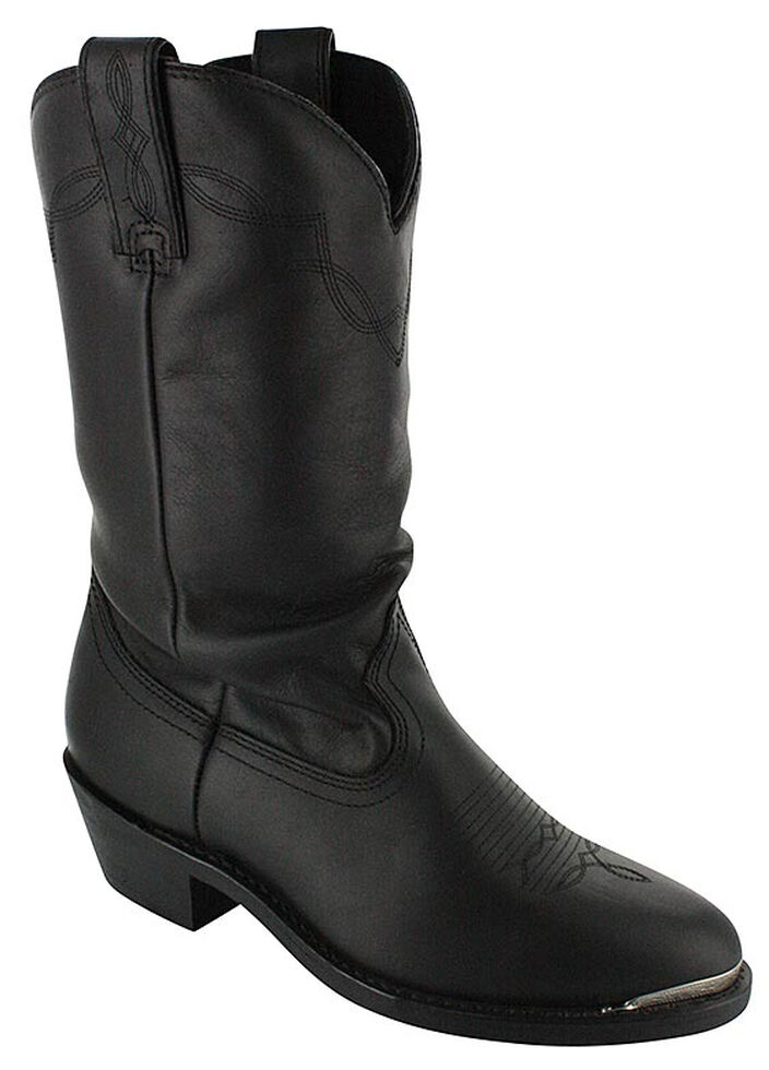Shyanne Women's Black Slouch Cowgirl Boots - Medium Toe, Black, hi-res
