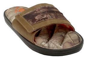 Double Barrel Men's Mossy Oak Slide-On Sandals, Mossy Oak, hi-res