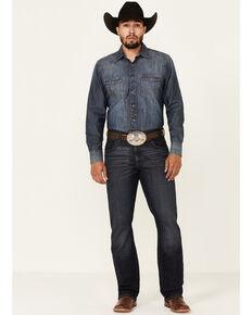 Wrangler Retro Men's Dark Wash Rocky Mount Relaxed Bootcut Jeans , Blue, hi-res