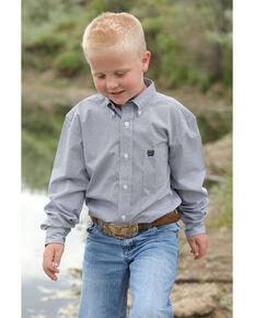d5c8115b7 Cinch Boys Navy Geo Print Button Long Sleeve Western Shirt , Navy, hi-res