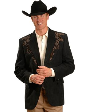 Circle S Galveston Sport Coat - Reg, Tall, Black, hi-res