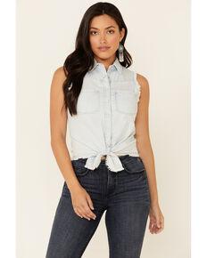 Idyllwind Women's Sunbright Sleeveless Western Shirt , Light Blue, hi-res