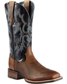 Ariat Tombstone Cowboy Boots - Wide Square Toe, Earth, hi-res