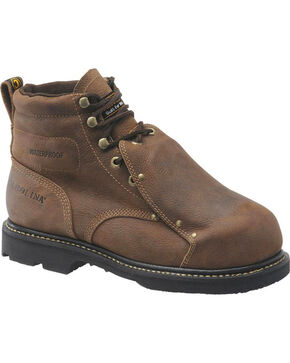 "Carolina Men's 6"" WP MetGuard Work Boots - Steel Toe, Brown, hi-res"