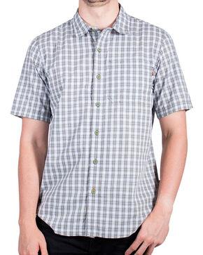 Timberland Men's Plotline Short Sleeve Plaid Work Shirt , Olive, hi-res