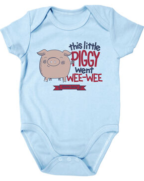Farm Boy Infant Boys' Little Piggy Onesie, Blue, hi-res